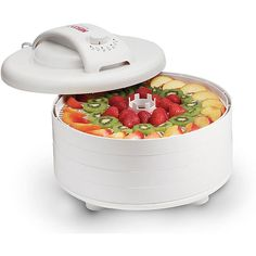 Dry your favorite food with an FD-60 Snackmaster ExpressSpecialty appliance is a great way to prepare foods without losing vitaminsFood dehydrator hsa a Vita-Save exterior to block light and retain nutritional content