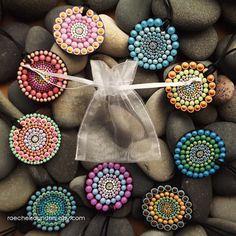 Pink Pastel Rainbow Dot design Authentic Aboriginal Dot