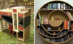 Make Your Own Cardboard Furniture...my aunts suggestion since I have uh none for my new place...CRAFTY AND COOL