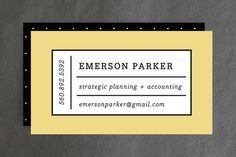 Playful Grid Business Cards by Olivia Raufman at minted.com