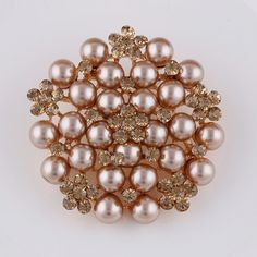 Gold Plated Brooch Imitation Pearl Rhinestone Brooch Brooches For Women Wedding Bouquets Collar Clip For Scarf Buckle pins