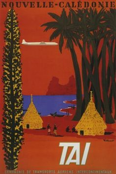 VISIT TRAVEL TOURISM NOUVELLE CALEDONIE AIRPLANE FRANCE FRENCH LARGE VINTAGE POSTER REPRO by WONDERFULITEMS, http://www.amazon.com/dp/B003Y57U1K/ref=cm_sw_r_pi_dp_9ksUrb05RE5CP