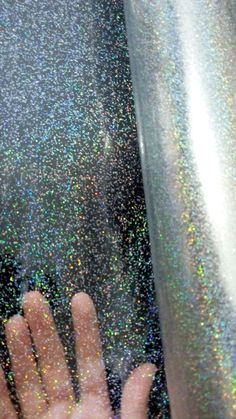 Clear Rainbow Glitter PVC See Through Vinyl Holographic Hologram A4