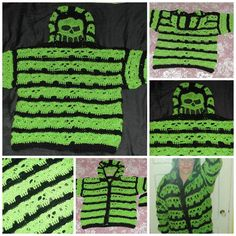 Bone Head Hoodie Adult Sizes XL to 4XL Crochet pattern by Spider Mambo   Knitting Patterns   LoveKnitting