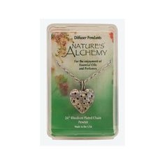 Nature's Alchemy Diffuser Pendant Heart -- 1 Necklace, pewter