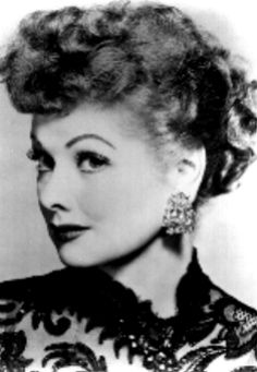 I love Lucy! (and her hair, lashes. and sharp lipstick)