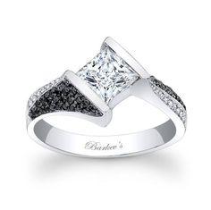 Black Diamond Engagement Ring! 7872LBKW