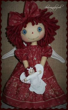 New Year Angel with hand smocking by charmingsbycmh