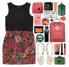 """""""//grapefruit//"""" by bananafrog ❤ liked on Polyvore featuring Monki, Fjällräven, Urbanears, Dotti, Fornasetti, Guide London, Fujifilm, philosophy, Givenchy and NARS Cosmetics"""