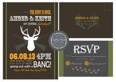Hunting themed wedding invitations!