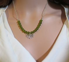 Peridot Jewelry Natural Green Stone Necklace Peridot by Viyoli