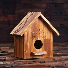 Personalized Pine Wood Functional Bird House (025241)