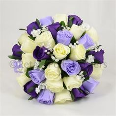 Purple, Lilac & Ivory Rose Brides Posy
