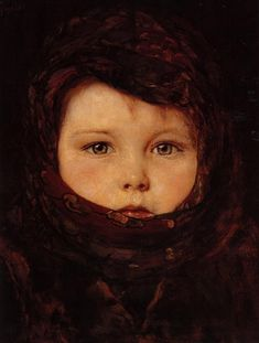 Little Girl by -Nikolaos Gyzis 1842-1901