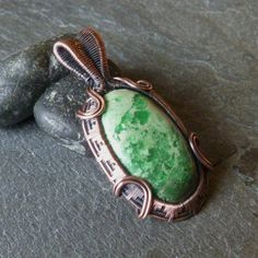 Green Variscite in Oxidized Copper  Creamy Mint by CoparAingeal, $65.00