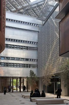 The Masdar Institute campus is the first building of its kind to be powered entirely by renewable solar energy. by Foster + Partners.