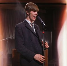 David Bowie performs on the British television show, Ready, Steady, Go in 1966