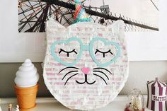 The step-by-step process for creating your own cat piñata just in time to kick off the spring party season! Kitten Party, Cat Party, Cat Crafts, Glue Crafts, Cat Themed Parties, Pencil Crafts, Spring Party, Cat Birthday, Party Entertainment