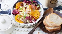 Salade détox orange, fenouil, raisin