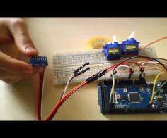 Arduino with accelerometer servo motor