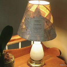 """I had a plain white lampshade that was me begging to do something """"crafty and creative"""" with it. How was I going to go about Decorating this Lampshade?  In..."""