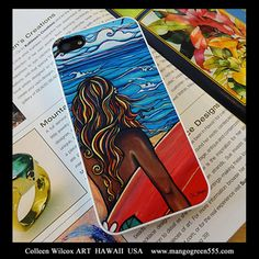 Catch your WAVE! Colleen Wilcox Hawaiian Surf Artist iPhone Case http://www.mangogreen555.com/iphonecase-northshore/