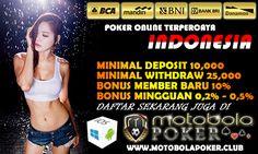 Motobolapoker tentu sebagai Agen Judi Domino Online Deposit 10rb memberikan pelayanan terbaik selama 24 jam.
