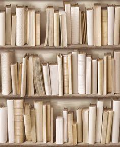 Papier Peint Bibliothèque Actuelle Ivoire - Koziel