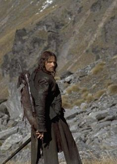 Aragorn in Lord of the Rings (For a chance to meet him, vote for Viggo Mortensen… Aragorn Lotr, Tauriel, Legolas, O Hobbit, J. R. R. Tolkien, Viggo Mortensen, Into The West, Ranger, The Two Towers