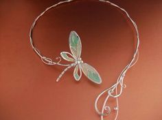 Dragonfly Tales Torc Necklace Jewelry Sterling by ElnaraNiall, $229.99