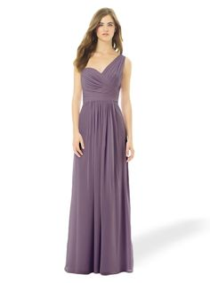 Bill Levkoff 492: A contemporary one-shoulder neckline bridesmaid dress with a flattering silhouette.