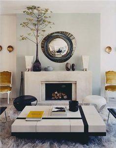 Modern-antique/romantic living room