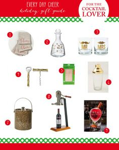 Gift Guide for the Cocktail Lover & Ashley's Wish List - http://everydaycheer.com/2013/11/29/gift-guide-for-the-cocktail-lover-ashleys-wish-list/