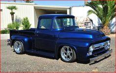 56 F100! 1956 Ford Truck, Old Ford Trucks, Old Pickup Trucks, Hot Rod Trucks, Cool Trucks, Big Trucks, Classic Ford Trucks, Classic Cars, Hot Rod Pickup