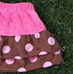 Satin and Minky Chenille skirt