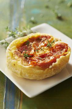 Recette Tatin de tomate aux mini-quenelles - Une recette Saint Jean