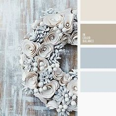 Brown blue white - this would be a pretty color palette for a bedroom