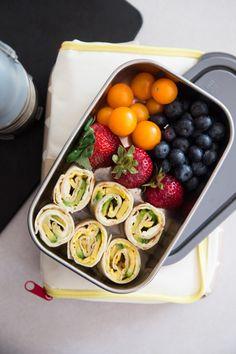 Avocado/egg pinwheels