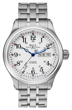 Men's BALL 'Trainmaster 60 Seconds II' Bracelet Watch, 41mm
