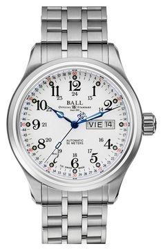 BALL 'Trainmaster 60 Seconds II' Bracelet Watch, 41mm