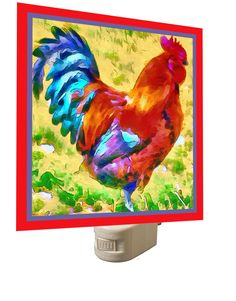 Rooster 'Craw' NIght Light by DoggyLips on Etsy