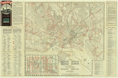 Library & Archives — Image 1: A Capital Transit guide map dated June 1,...