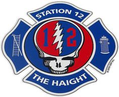 San Francisco Fire Department (SFFD - Station 12, The Haight) Grateful Dead Steal Your Face by Zooomabooma, via Flickr
