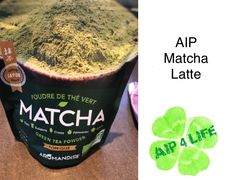 AIP Matcha latte - AIP4life Latte, Ben And Jerrys Ice Cream, Collagen, Snacks, Meals, Desserts, Food, Matcha Green Tea Latte, Tailgate Desserts