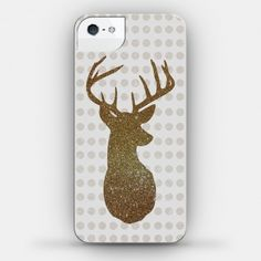Wish | Faux Glitter Deer Case (iPhone4 Case) (Size 4; Color White)