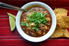 Salsa Chili - easy weeknight supper - ready in 30 minutes!