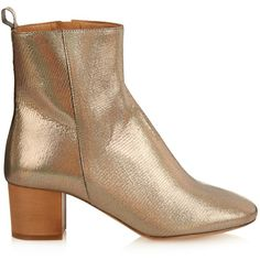 Isabel Marant Étoile Drew leather ankle boots (3.970 HRK) ❤ liked on Polyvore featuring shoes, boots, ankle booties, silver, short cowboy boots, western ankle boots, short leather boots, cowboy booties and cowgirl boots