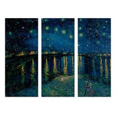 GlobalGallery.com: Famous High Art Canvas Triptychs - Starlight Over Rhone Triptych, $189, now featured on Fab.