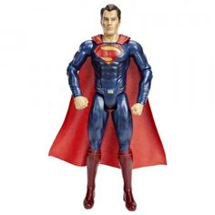 The Man of Steel is back for an epic adventure in the new movie, Batman v Superman: Dawn of Justice. Mattel's DC Comics Multiverse: Batman v Superman: Superman figure is a 12-inch version of Superman in his blue and red suit from the movie.