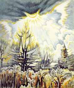 Charles Burchfield, November Sun Emerging. 1956-59